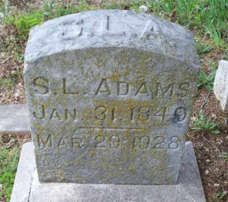 ADAMS, S. L. - Montgomery County, Kansas   S. L. ADAMS - Kansas Gravestone Photos