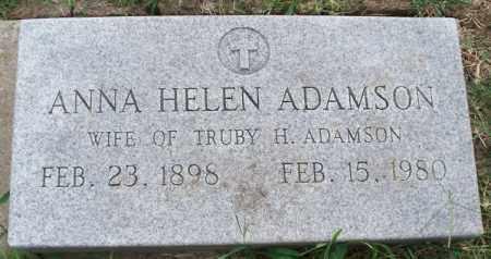 ADAMSON, ANNA HELEN - Montgomery County, Kansas | ANNA HELEN ADAMSON - Kansas Gravestone Photos