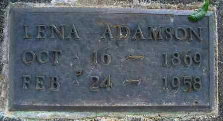 ADAMSON, LENA - Montgomery County, Kansas | LENA ADAMSON - Kansas Gravestone Photos