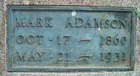 ADAMSON, MARK - Montgomery County, Kansas | MARK ADAMSON - Kansas Gravestone Photos