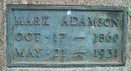 ADAMSON, MARK - Montgomery County, Kansas | MARK ADAMSON - Kansas Gravestone Photos