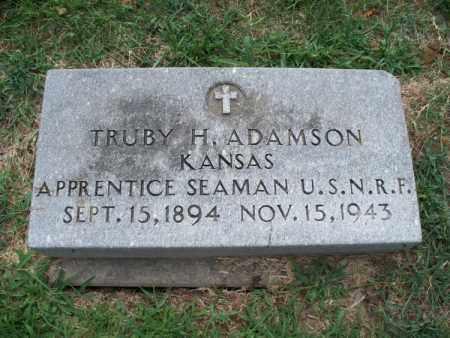 ADAMSON, TRUBY H   (VETERAN) - Montgomery County, Kansas   TRUBY H   (VETERAN) ADAMSON - Kansas Gravestone Photos