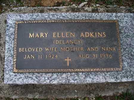 DELANCY ADKINS, MARY ELLEN - Montgomery County, Kansas | MARY ELLEN DELANCY ADKINS - Kansas Gravestone Photos