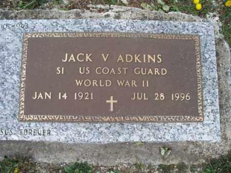 ADKINS, JACK V   (VETERAN WWII) - Montgomery County, Kansas | JACK V   (VETERAN WWII) ADKINS - Kansas Gravestone Photos