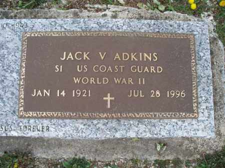 ADKINS, JACK V   (VETERAN WWII) - Montgomery County, Kansas | JACK V   (VETERAN WWII) ADKINS - Kansas Gravestone Photos