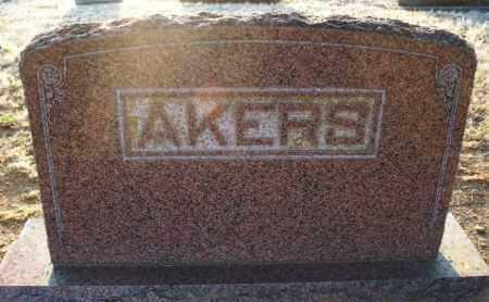 AKERS FAMILY STONE,  - Montgomery County, Kansas |  AKERS FAMILY STONE - Kansas Gravestone Photos