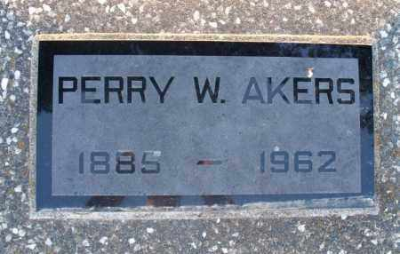 AKERS, PERRY W. - Montgomery County, Kansas | PERRY W. AKERS - Kansas Gravestone Photos