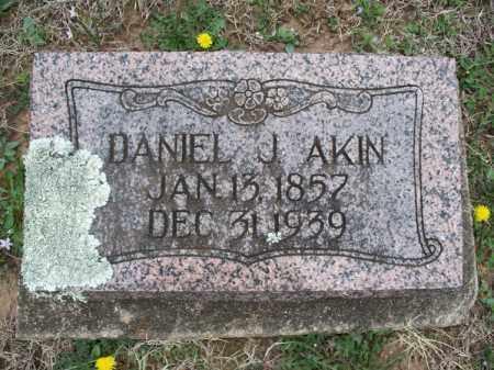 AKIN, DANIEL J - Montgomery County, Kansas   DANIEL J AKIN - Kansas Gravestone Photos
