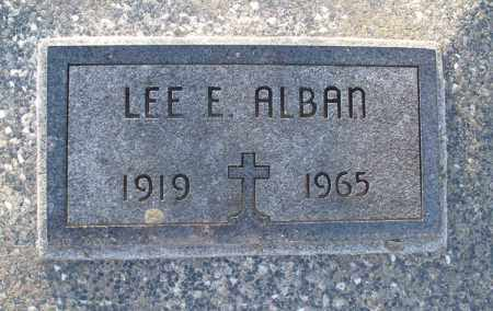 ALBAN, LEE E. - Montgomery County, Kansas | LEE E. ALBAN - Kansas Gravestone Photos