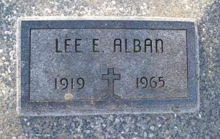 ALBAN, LEE E - Montgomery County, Kansas | LEE E ALBAN - Kansas Gravestone Photos