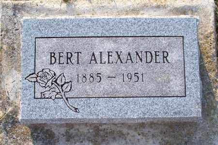 ALEXANDER, BERT - Montgomery County, Kansas | BERT ALEXANDER - Kansas Gravestone Photos