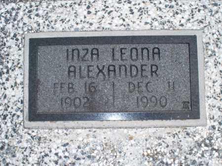 ALEXANDER, INZA LEONA - Montgomery County, Kansas | INZA LEONA ALEXANDER - Kansas Gravestone Photos