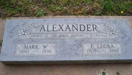 ALEXANDER, E LEORA - Montgomery County, Kansas | E LEORA ALEXANDER - Kansas Gravestone Photos