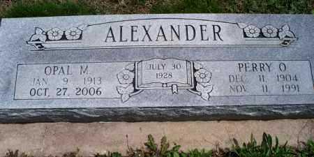 ALEXANDER, OPAL M. - Montgomery County, Kansas | OPAL M. ALEXANDER - Kansas Gravestone Photos