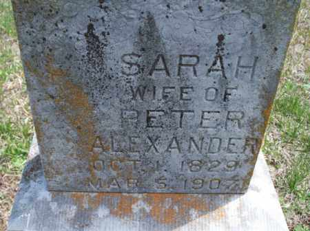 ALEXANDER, SARAH - Montgomery County, Kansas | SARAH ALEXANDER - Kansas Gravestone Photos
