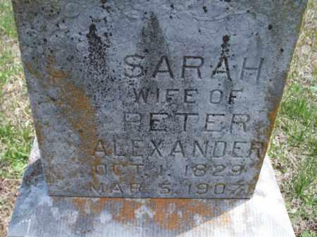 ALEXANDER, SARAH - Montgomery County, Kansas   SARAH ALEXANDER - Kansas Gravestone Photos
