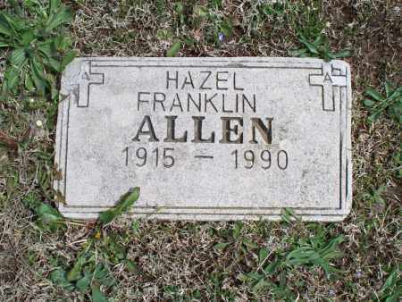 FRANKLIN ALLEN, HAZEL - Montgomery County, Kansas | HAZEL FRANKLIN ALLEN - Kansas Gravestone Photos