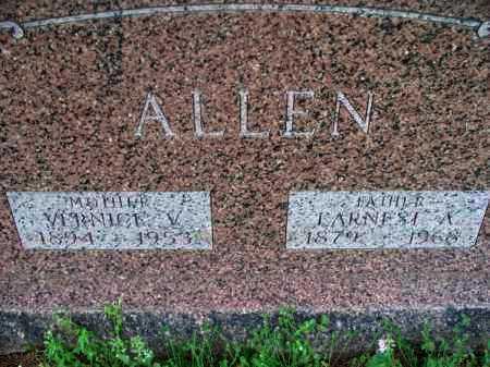 ALLEN, VERNICE V. - Montgomery County, Kansas | VERNICE V. ALLEN - Kansas Gravestone Photos