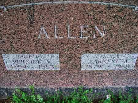 ALLEN, EARNEST A - Montgomery County, Kansas | EARNEST A ALLEN - Kansas Gravestone Photos