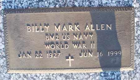 ALLEN, BILLY MARK   (VETERAN WWII) - Montgomery County, Kansas | BILLY MARK   (VETERAN WWII) ALLEN - Kansas Gravestone Photos