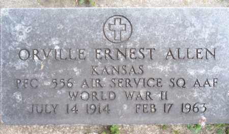 ALLEN, ORVILLE ERNEST  (VETERAN WWII) - Montgomery County, Kansas | ORVILLE ERNEST  (VETERAN WWII) ALLEN - Kansas Gravestone Photos