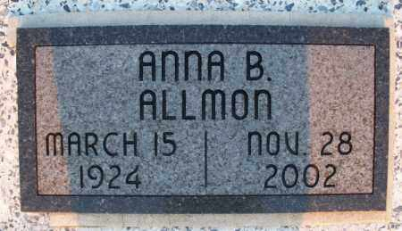 ALLMON, ANNA B. - Montgomery County, Kansas | ANNA B. ALLMON - Kansas Gravestone Photos