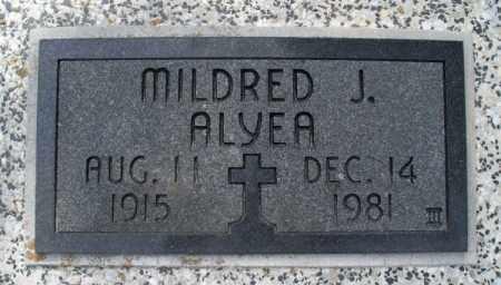 ALYEA, MILDRED J. - Montgomery County, Kansas   MILDRED J. ALYEA - Kansas Gravestone Photos