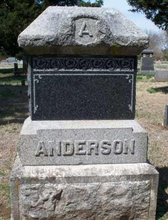 ANDERSON FAMILY STONE,  - Montgomery County, Kansas    ANDERSON FAMILY STONE - Kansas Gravestone Photos