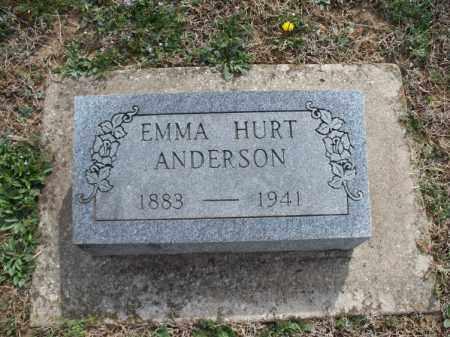 HURT ANDERSON, EMMA - Montgomery County, Kansas | EMMA HURT ANDERSON - Kansas Gravestone Photos