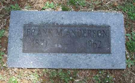 ANDERSON, FRANK M. - Montgomery County, Kansas | FRANK M. ANDERSON - Kansas Gravestone Photos