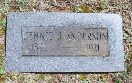 ANDERSON, JENNIE J. - Montgomery County, Kansas   JENNIE J. ANDERSON - Kansas Gravestone Photos