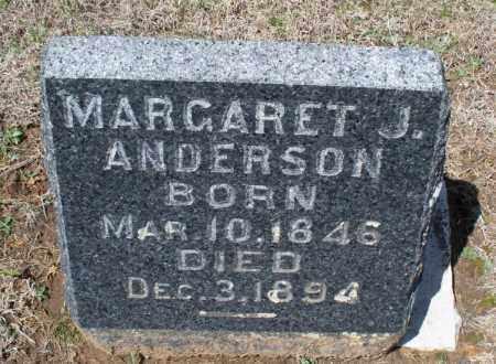 ANDERSON, MARGARET J. - Montgomery County, Kansas | MARGARET J. ANDERSON - Kansas Gravestone Photos