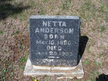 ANDERSON, NETTA - Montgomery County, Kansas | NETTA ANDERSON - Kansas Gravestone Photos