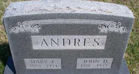ANDRES, MARY E. - Montgomery County, Kansas   MARY E. ANDRES - Kansas Gravestone Photos