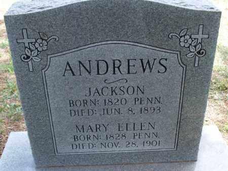 ANDREWS, MARY ELLEN - Montgomery County, Kansas | MARY ELLEN ANDREWS - Kansas Gravestone Photos