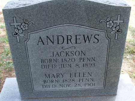 ANDREWS, JACKSON - Montgomery County, Kansas | JACKSON ANDREWS - Kansas Gravestone Photos