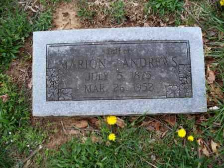 ANDREWS, MARION - Montgomery County, Kansas   MARION ANDREWS - Kansas Gravestone Photos