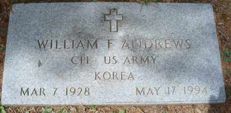 ANDREWS, WILLIAM F   (VETERAN KOR) - Montgomery County, Kansas   WILLIAM F   (VETERAN KOR) ANDREWS - Kansas Gravestone Photos