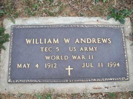 ANDREWS, WILLIAM W    (VETERAN WWII) - Montgomery County, Kansas   WILLIAM W    (VETERAN WWII) ANDREWS - Kansas Gravestone Photos