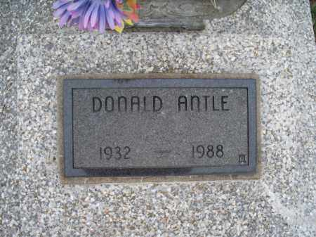 ANTLE, DONALD - Montgomery County, Kansas | DONALD ANTLE - Kansas Gravestone Photos