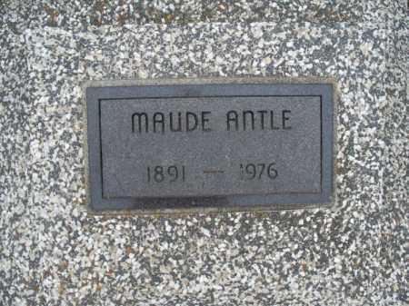 ANTLE, MAUDE - Montgomery County, Kansas | MAUDE ANTLE - Kansas Gravestone Photos
