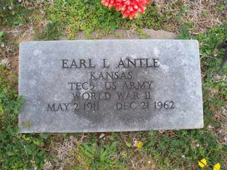 ANTLE, EARL L  (VETERAN WWII) - Montgomery County, Kansas | EARL L  (VETERAN WWII) ANTLE - Kansas Gravestone Photos