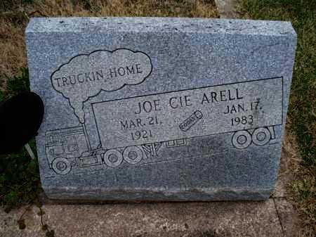 ARELL, JOE CIE - Montgomery County, Kansas | JOE CIE ARELL - Kansas Gravestone Photos