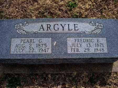 ARGYLE, FREDRIC E. - Montgomery County, Kansas   FREDRIC E. ARGYLE - Kansas Gravestone Photos