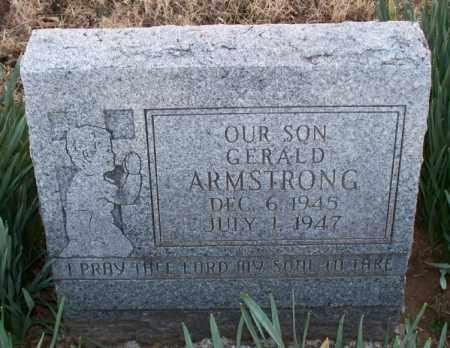 ARMSTRONG, GERALD - Montgomery County, Kansas   GERALD ARMSTRONG - Kansas Gravestone Photos