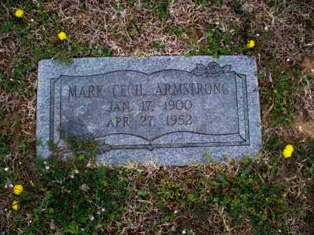 ARMSTRONG, MARK CECIL - Montgomery County, Kansas   MARK CECIL ARMSTRONG - Kansas Gravestone Photos