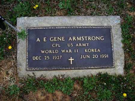 """ARMSTRONG, A. E. """"GENE""""  (VETERAN 2 WARS) - Montgomery County, Kansas   A. E. """"GENE""""  (VETERAN 2 WARS) ARMSTRONG - Kansas Gravestone Photos"""