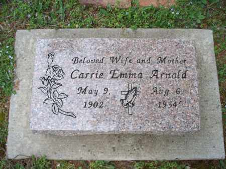 ARNOLD, CARRIE EMMA - Montgomery County, Kansas   CARRIE EMMA ARNOLD - Kansas Gravestone Photos