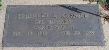 ARNOLD, CHARLES L   (VETERAN WWII) - Montgomery County, Kansas | CHARLES L   (VETERAN WWII) ARNOLD - Kansas Gravestone Photos