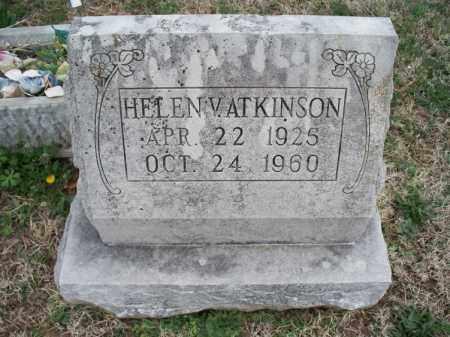 ATKINSON, HELEN V - Montgomery County, Kansas | HELEN V ATKINSON - Kansas Gravestone Photos